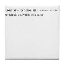 Vet Tech Definition Tile Coaster
