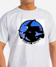 Witchy Woman (Blue) Ash Grey T-Shirt