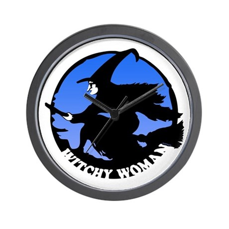 Witchy Woman (Blue) Wall Clock