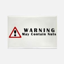 WARNING: May Contain Nuts! Rectangle Magnet
