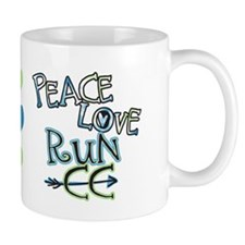 Peace Love Run CC Mug