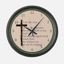 John 15 5 King James Bible Large Wall Clock
