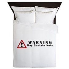 WARNING: May Contain Nuts! Queen Duvet