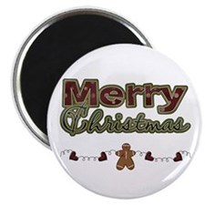 Merry Christmas Gingerbread Magnet