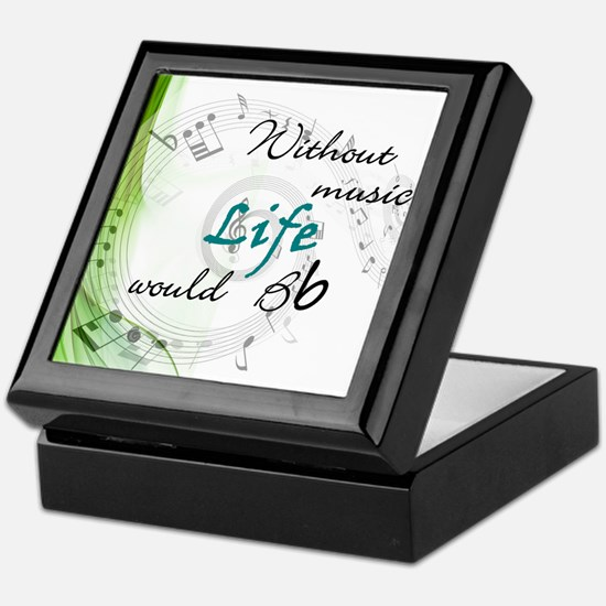 Without Music, Life Would Bb-by soda Keepsake Box