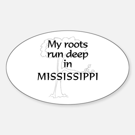 Mississippi Roots Oval Decal