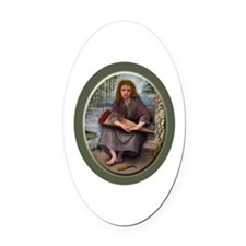 Cute Wench Oval Car Magnet