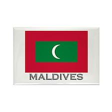 Maldives Flag Stuff Rectangle Magnet