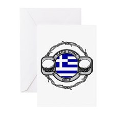 Greece Golf Greeting Cards (Pk of 10)