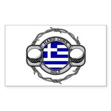 Greece Golf Rectangle Decal