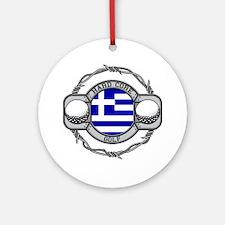 Greece Golf Ornament (Round)