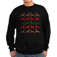 Prancing Reindeer Ugly Holiday Sweater Style Sweat
