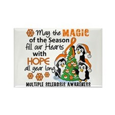 Holiday Penguins MS Rectangle Magnet