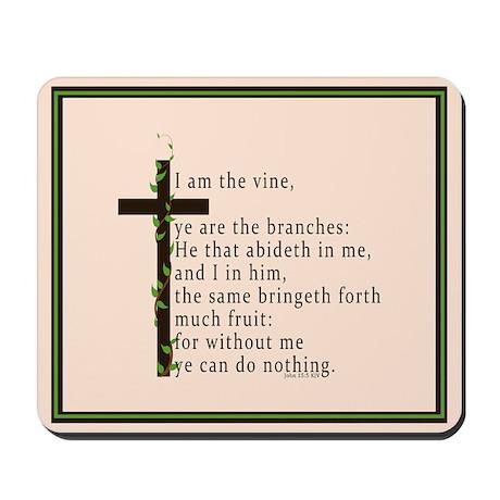 John 15 5 King James Bible Verse Mousepad