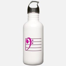 BASS CLEF STAFF- PINK copy.png Water Bottle