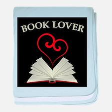Book Lovers Stuff Logo baby blanket