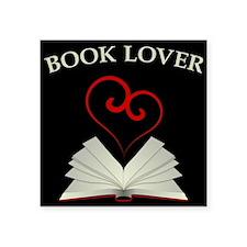 "Book Lovers Stuff Logo Square Sticker 3"" x 3"""