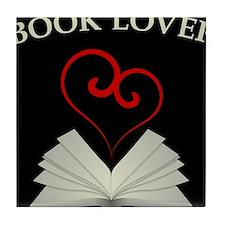 Book Lovers Stuff Logo Tile Coaster