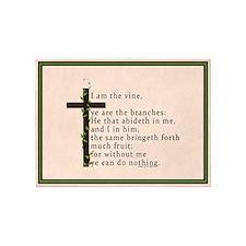 John 15 5 King James Bible Verse 5'x7'Area Rug