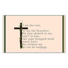 John 15 5 King James Bible Verse Decal