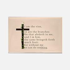 John 15 5 King James Bible Verse Rectangle Magnet