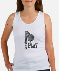 PLAY- BAGPIPES copy.png Women's Tank Top