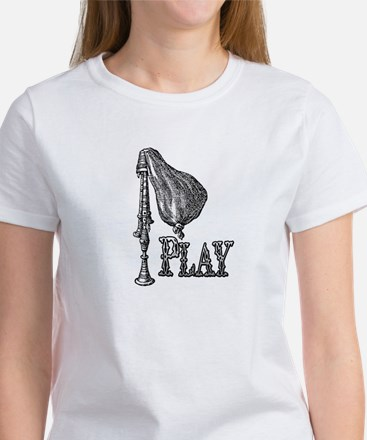 PLAY- BAGPIPES copy.png Women's T-Shirt