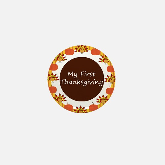 My First Thanksgiving Mini Button (10 pack)