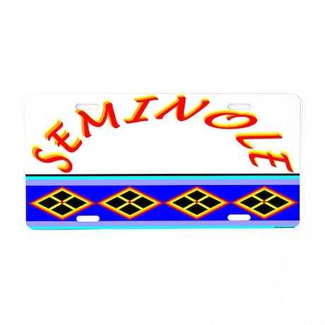SEMINOLE INDIAN PATCHWORK Aluminum License Plate