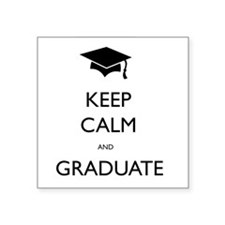 "Graduate Square Sticker 3"" x 3"""