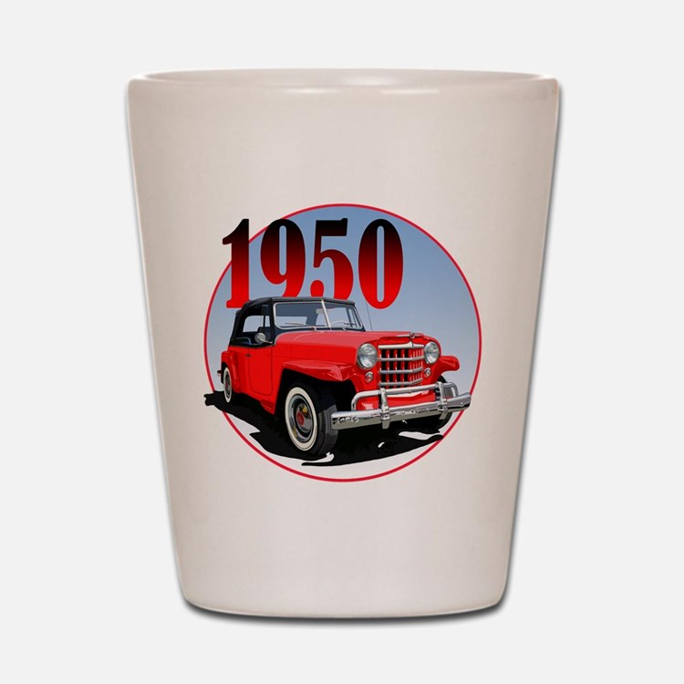 1950 Redjeepster Shot Glass