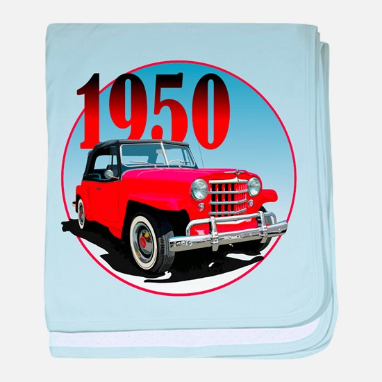 1950 Redjeepster baby blanket