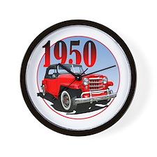 1950 Redjeepster Wall Clock