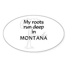 Montana Roots Oval Bumper Stickers