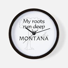 Montana Roots Wall Clock