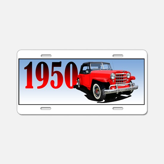 1950 Redjeepster Aluminum License Plate