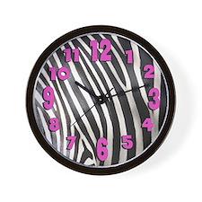 Zebra Skin Clock Wall Clock