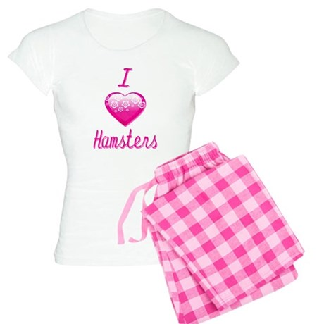 I Love/Heart Hamsters Women's Light Pajamas