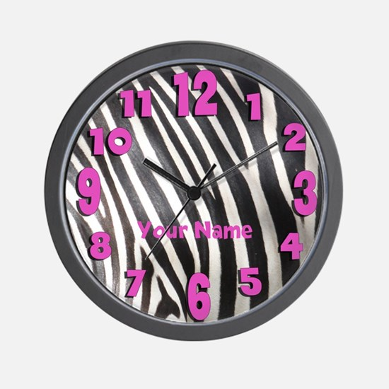 Personalized Zebra Stripe Wall Clock