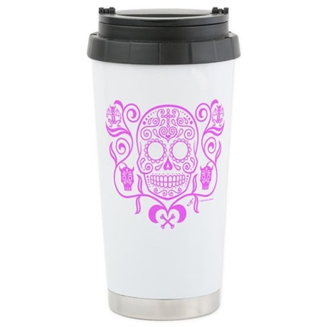 Day of the Dead Sugar Skull Stainless Steel Travel