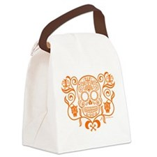 Day of the Dead Sugar Skull Canvas Lunch Bag