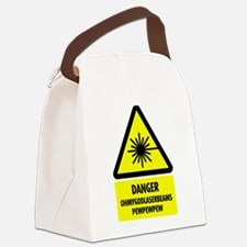 laserbeams1.png Canvas Lunch Bag