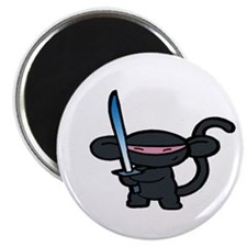 "Black Minky with Shiny Sword 2.25"" Magnet (10 pac"