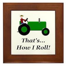 Green Tractor How I Roll Framed Tile
