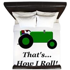 Green Tractor How I Roll King Duvet