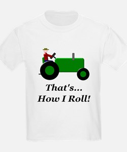 Green Tractor How I Roll T-Shirt