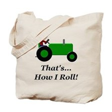 Green Tractor How I Roll Tote Bag
