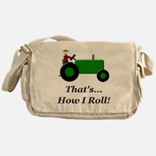 Green Tractor How I Roll Messenger Bag