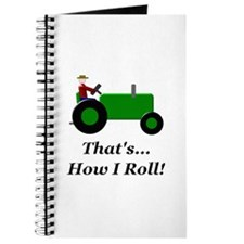 Green Tractor How I Roll Journal