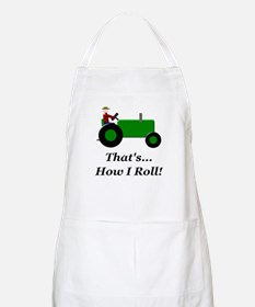 Green Tractor How I Roll Apron